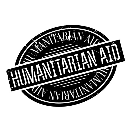 disaster relief: Humanitarian Aid rubber stamp. Grunge design with dust scratches. Effects can be easily removed for a clean, crisp look. Color is easily changed. Stock Photo
