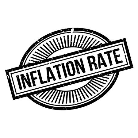 credit crunch: Inflation Rate rubber stamp. Grunge design with dust scratches. Effects can be easily removed for a clean, crisp look. Color is easily changed.