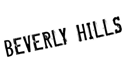 Beverly Hills rubber stamp. Grunge design with dust scratches. Effects can be easily removed for a clean, crisp look. Color is easily changed. 向量圖像