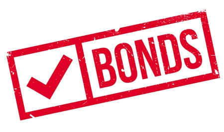 bonds: Bonds rubber stamp. Grunge design with dust scratches. Effects can be easily removed for a clean, crisp look. Color is easily changed.