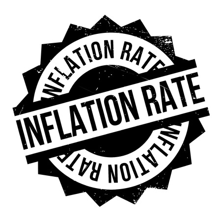 budgetary: Inflation Rate rubber stamp. Grunge design with dust scratches. Effects can be easily removed for a clean, crisp look. Color is easily changed.