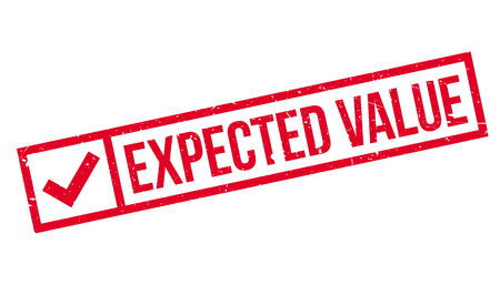 expect: Expected Value rubber stamp. Grunge design with dust scratches. Effects can be easily removed for a clean, crisp look. Color is easily changed.