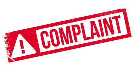 complaint: Complaint rubber stamp. Grunge design with dust scratches. Effects can be easily removed for a clean, crisp look. Color is easily changed.