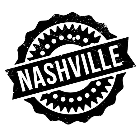 Nashville stamp. Grunge design with dust scratches. Effects can be easily removed for a clean, crisp look. Color is easily changed.