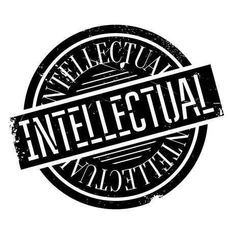 studious: Intellectual rubber stamp Illustration