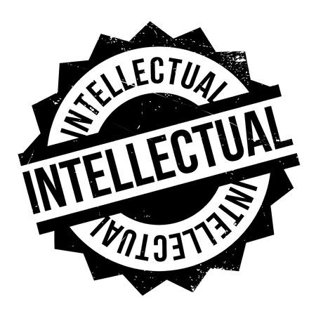 scholarly: Intellectual rubber stamp. Grunge design with dust scratches. Effects can be easily removed for a clean, crisp look. Color is easily changed.