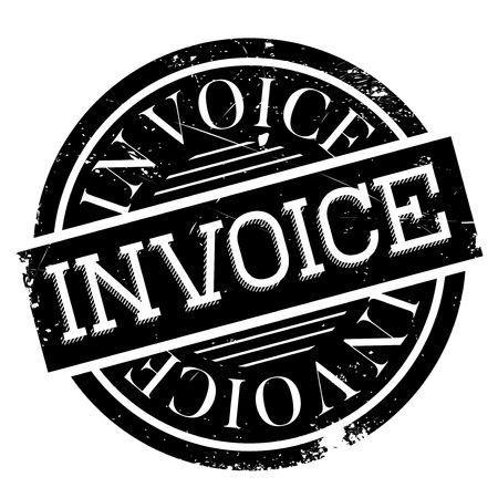 accounts payable: Invoice rubber stamp Illustration