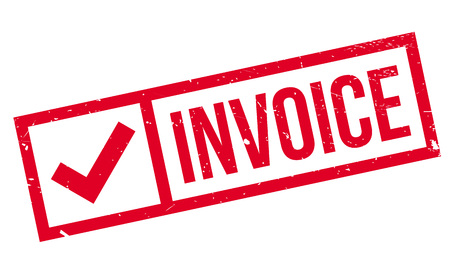 receivable: Invoice rubber stamp Illustration