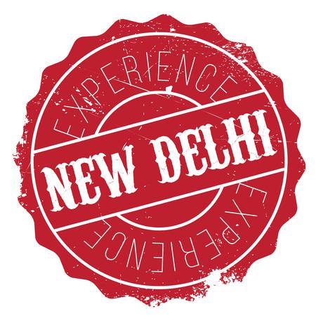 new delhi: New Delhi rubber grunge Illustration