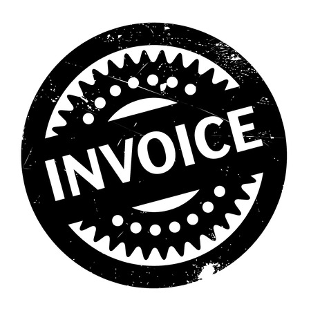 remit: Invoice rubber stamp Stock Photo
