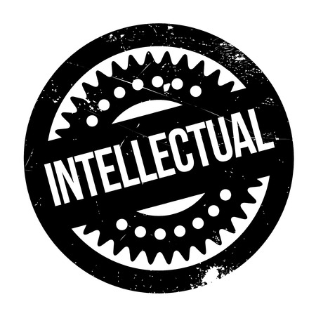 bookish: Intellectual rubber stamp Stock Photo