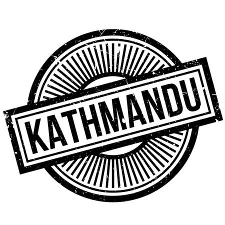 rana: Kathmandu rubber stamp Illustration