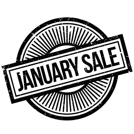 January Sale rubber stamp