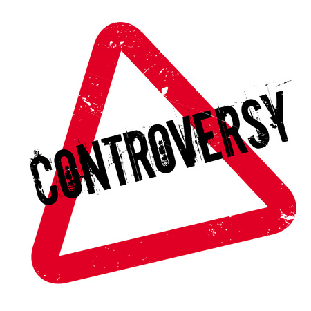 bad news: Controversy rubber stamp. Grunge design with dust scratches. Effects can be easily removed for a clean, crisp look. Color is easily changed. Illustration