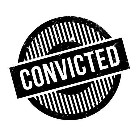 convicted: Convicted rubber stamp. Grunge design with dust scratches. Effects can be easily removed for a clean, crisp look. Color is easily changed.