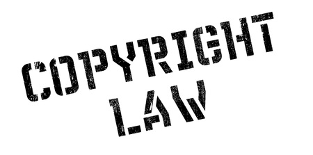 plagiarism: Copyright Law rubber stamp. Grunge design with dust scratches. Effects can be easily removed for a clean, crisp look. Color is easily changed.