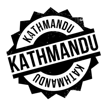 himalayas: Kathmandu rubber stamp Illustration
