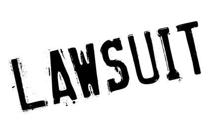 Lawsuit rubber stamp Vektorové ilustrace