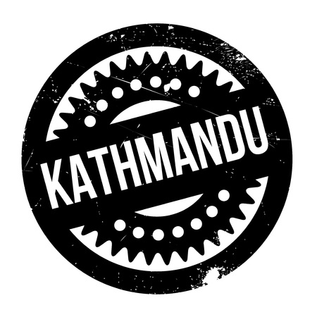 Kathmandu rubber stamp Illustration