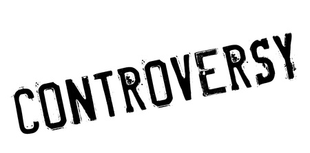 Controversy rubber stamp. Grunge design with dust scratches. Effects can be easily removed for a clean, crisp look. Color is easily changed. Stock Photo