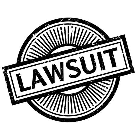 prosecute: Lawsuit rubber stamp Illustration