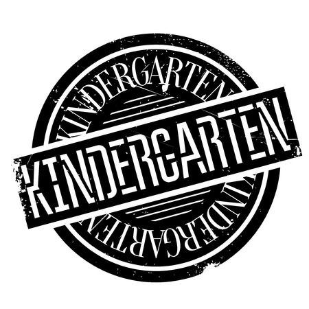 creche: Kindergarten rubber stamp