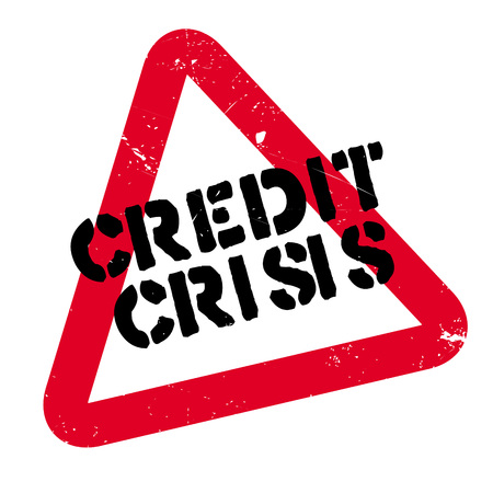 Credit Crisis rubber stamp. Grunge design with dust scratches. Effects can be easily removed for a clean, crisp look. Color is easily changed. Illustration
