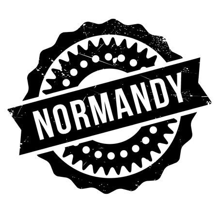 normandy: Normandy stamp rubber grunge Illustration