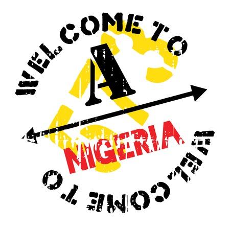 transnational: Nigeria stamp rubber grunge