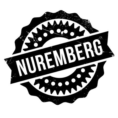 bavarian culture: Nuremberg stamp rubber grunge