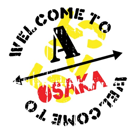 Osaka stamp rubber grunge