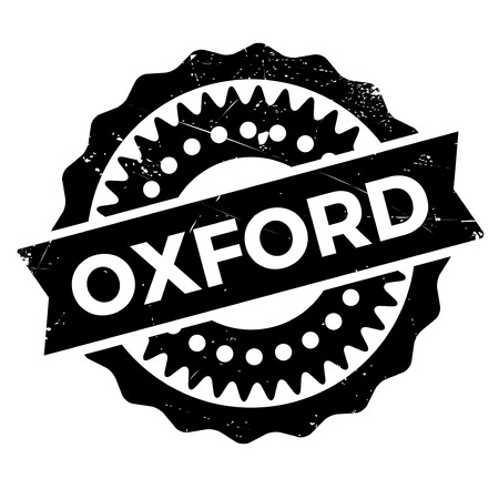 oxford: Oxford stamp rubber grunge Illustration
