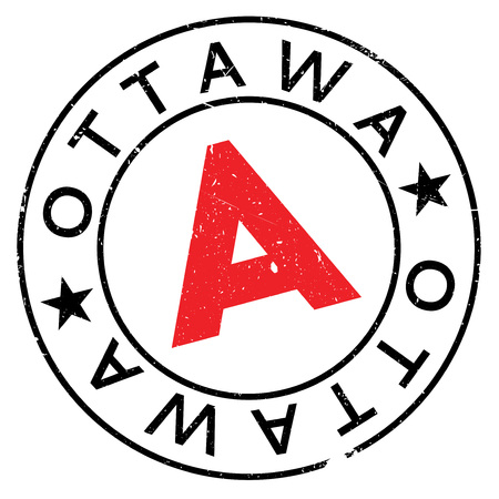 Ottawa stamp rubber grunge Illustration