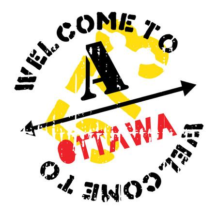 Ottawa stamp rubber grunge Illustration