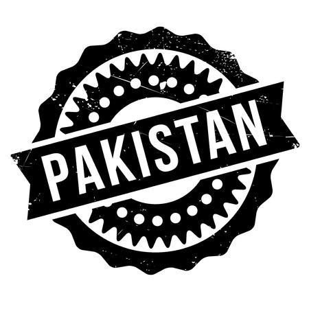 Pakistan stamp rubber grunge