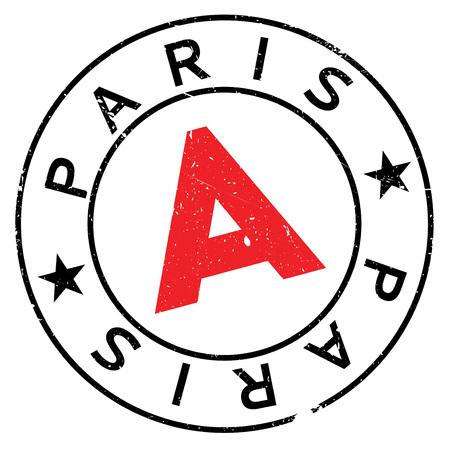 Paris stamp rubber grunge Illustration