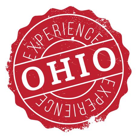 Ohio stamp rubber grunge Illustration
