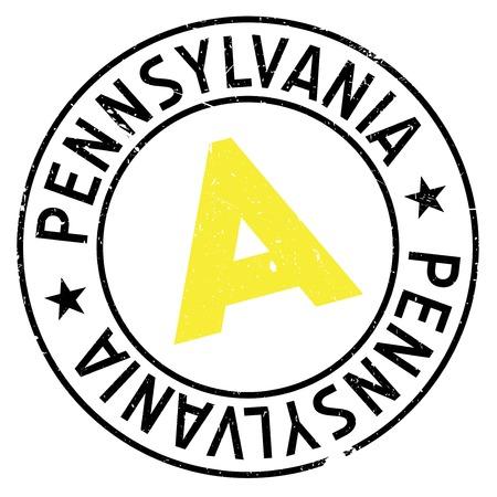 keystone: Pennsylvania stamp rubber grunge