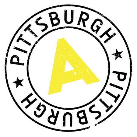 allegheny: Pittsburgh stamp rubber grunge Illustration