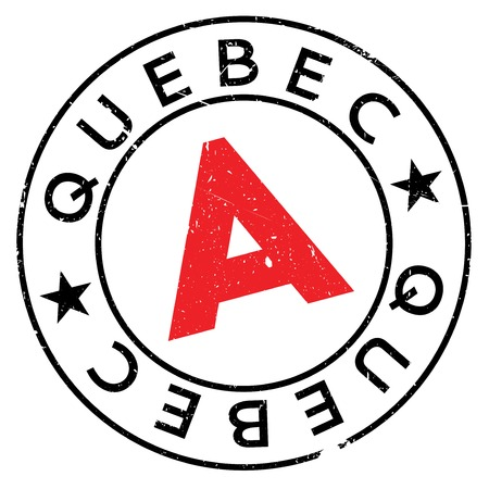 Quebec stamp rubber grunge