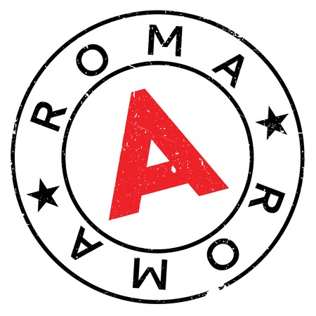 roma: Roma stamp rubber grunge