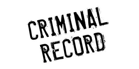 Criminal Record rubber stamp. Grunge design with dust scratches. Effects can be easily removed for a clean, crisp look. Color is easily changed. Illustration