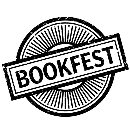 deed: Bookfest rubber stamp. Grunge design with dust scratches. Effects can be easily removed for a clean, crisp look. Color is easily changed.