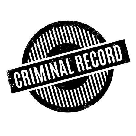 deuce: Criminal Record rubber stamp. Grunge design with dust scratches. Effects can be easily removed for a clean, crisp look. Color is easily changed. Illustration