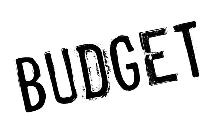 deficit target: Budget rubber stamp. Grunge design with dust scratches. Effects can be easily removed for a clean, crisp look. Color is easily changed.