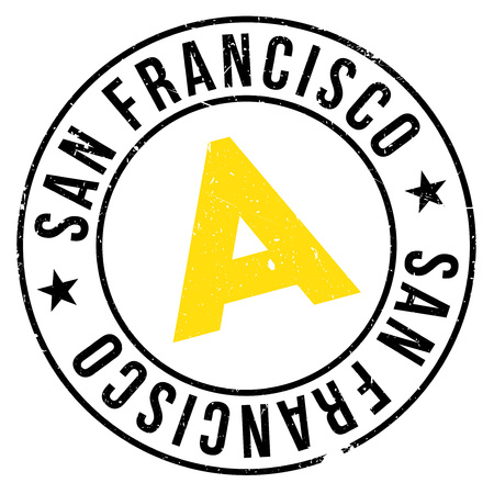 San Francisco stamp. Grunge design with dust scratches. Effects can be easily removed for a clean, crisp look. Color is easily changed.
