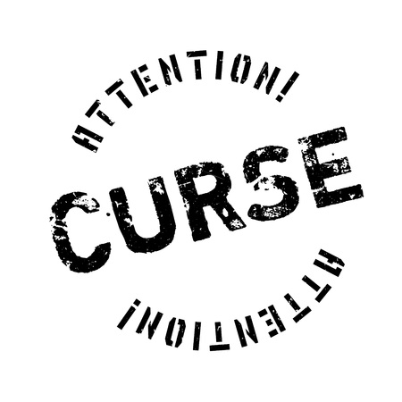cursed: Curse rubber stamp. Grunge design with dust scratches. Effects can be easily removed for a clean, crisp look. Color is easily changed.