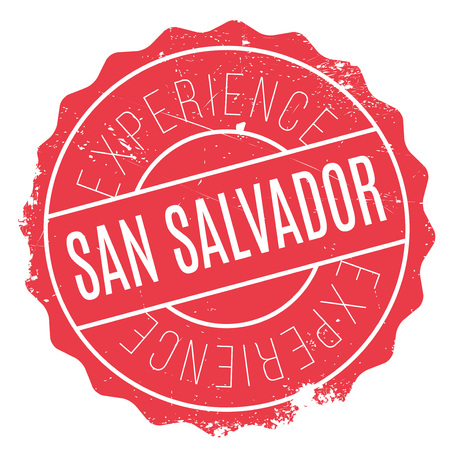 bandera de el salvador: San Salvador stamp. Grunge design with dust scratches. Effects can be easily removed for a clean, crisp look. Color is easily changed. Vectores