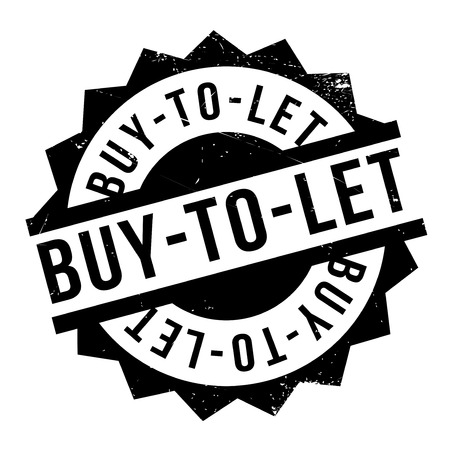 Buy-To-Let rubber stamp. Grunge design with dust scratches. Effects can be easily removed for a clean, crisp look. Color is easily changed.