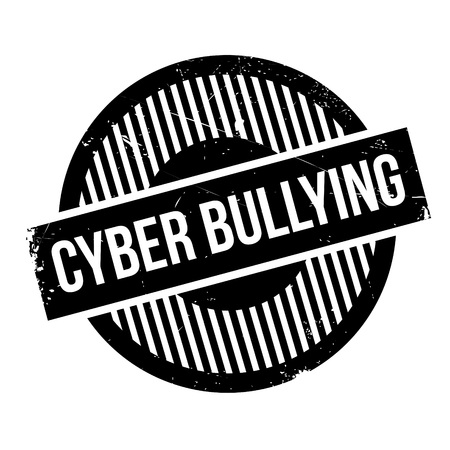 annoyance: Cyber Bullying rubber stamp. Grunge design with dust scratches. Effects can be easily removed for a clean, crisp look. Color is easily changed. Illustration